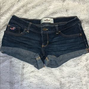 Dark wash hollister jean shorts